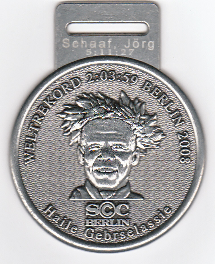 Finisher Medaille 36.Real Marathon Berlin 2009