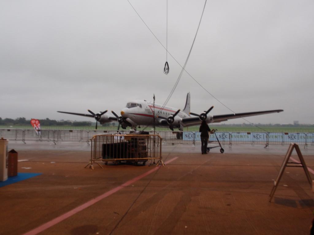 Das Flugzeug von Der Luftbrücke